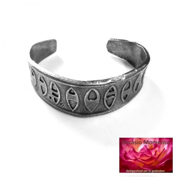 Armband Tin Design Motief Gepatineerd Glanzend Tin