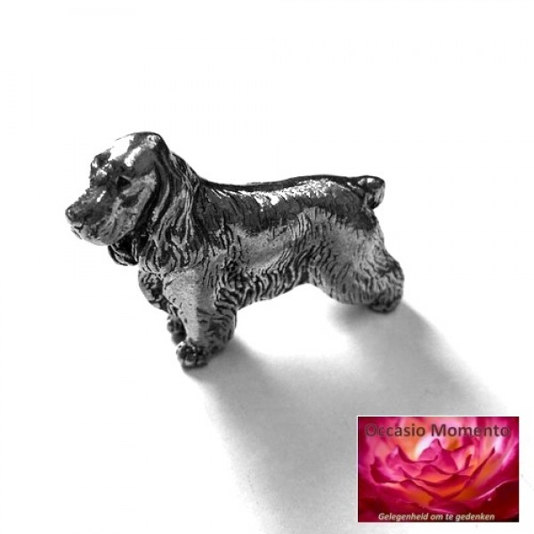 Cocker Spaniel Gepatineerd Glanzend Tin